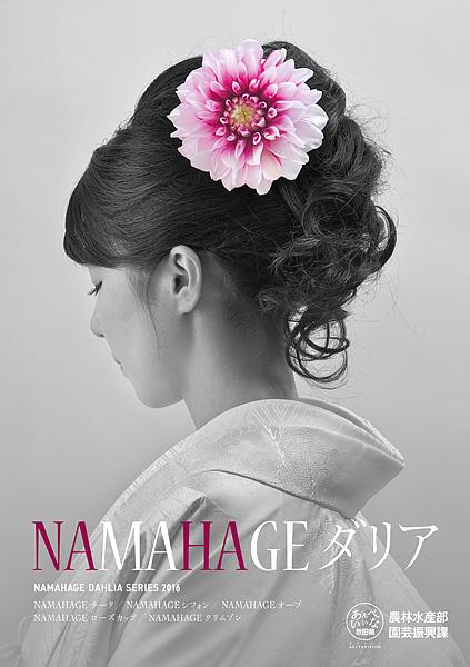 2016 NAMAHAGE ダリア ブランドイメージ ポスター