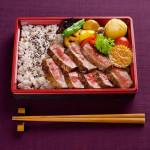秋田錦牛ステーキ弁当  広告用写真撮影